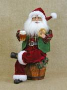 Crakewood Beer Barrel Santa Claus Figurine