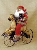 Crakewood Vintage Horse Trike Santa Claus Figurine