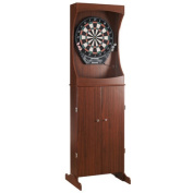 Hathaway Outlaw Free Standing Dartboard & Cabinet Set - Cherry Finish