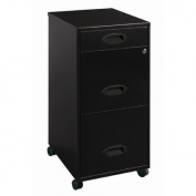 3-Drawer Organiser Mobile File Cabinet