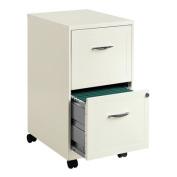 Hirsh Industries 2 Drawer Steel File Cabinet in White