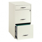 Hirsh Industries 3 Drawer Steel File Cabinet in White