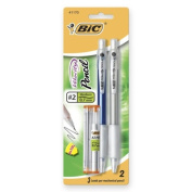 Mechanical Pencil,Refillable,Rubbergrip,.7mm,2/PK,Assorted