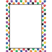 Teacher Created Resources 4769 Colourful Paw Prints Computer Paper