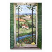 Country Wooden Faux Window Scene