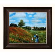 Monet Poppy Field in Argenteuil Canvas Art