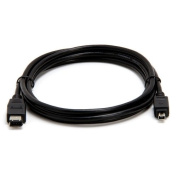 1.8m Black 6 Pin To 4 Pin FireWire / i.Link Cable