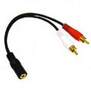 Cables To Go 03182 - 3.5mm Stereo Female to RCA Male Y-Cable