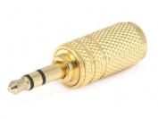 Monoprice 107160 3.5-mm Stereo Plug to 3.5-mm Mono Jack Adaptor, Gold Plated