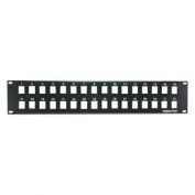 InstallerParts 2U 48cm 32port Blank Panel for Keystone Jack