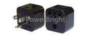 Power Bright PB36 Plug Adapter American Flat Pin Grounded Input