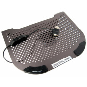 Cables Unlimted FANNBCOOL3 MiniFit Slate Grey Metal Netbook Cooler with Fan
