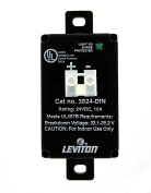 Leviton 3824-DIN 24 Volt DC, 2 Pole, 2 Equipment Cabinet Surge Protective Device, Wired-In Module