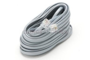 RJ11 Modular Telephone Cable Reversed For Voice, Silver, 25ft