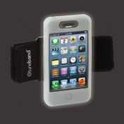 Tuneband for iPhone 4 & iPhone 4S, Glow-in-the-Dark, Grantwood Technology's Armband, Silicone Skin, and Front/Back Screen Protector