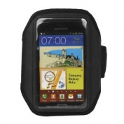 Importer520 Deluxe Adjustable Black Armband Sports Case Cover Compatible With for Samsung Galaxy Note 2 Note II N7100
