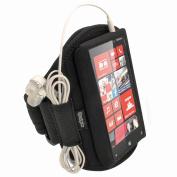 iGadgitz Black Neoprene Sports Gym Jogging Armband for Nokia Lumia 820 Windows Smartphone Cell Phone