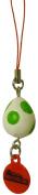 Tomy Super Mario Bros. Wii Mini Mascots Keychain Phone Charm ~2.5cm - Green Yoshi Egg