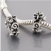 Butterfly Spacer Bead Charm Dangle. Compatible With Troll, Zable, Baigi, Chamilia, And Many More Charm Bracelets.