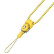 Fashionable Universal Neck Long Strap Lanyard for Electronics Accessories Camera Cell Mobile Phone - Yellow