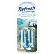 Refresh Your Car! Odor Eliminating Summer Breeze and Alpine Meadow Auto Vent Sticks 4-ct.