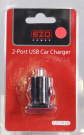 EZOPower 2-Port USB Car Charger 2.1A/1A