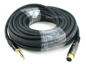 Monoprice 15m Gold Plated 16AWG XLR Female to 0.6cm TRS Male Cable
