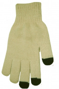 Boss Tech Products Knit Touchscreen Gloves with Conductive Fingertips for Use with All Touchscreen Electronic Devices- Beige
