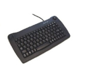 Adesso Mini Black PS/2 Keyboard with Built-in Trackball