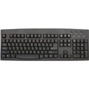 Russian Cyrillic English with USB Cable Black Computer Keyboard