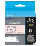 NEW - LabelWorks Standard LC Tape Cartridge, 1.3cm , Grey on Pink/White Polka Dot - LC4EAY9