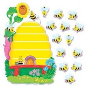 TREND T8077 - Busy Bees Job Chart Plus Bulletin Board Set 18 1/4 x 17 1/2-TEPT8077