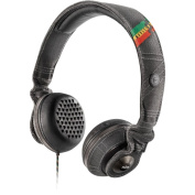House of Marley - Riddim On-Ear Headphones - Black/Red/Yellow/Green