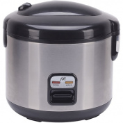 SPT - 10-Cup Rice Cooker - Stainless-Steel
