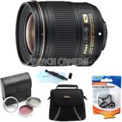 Nikon - Bundle AF-S NIKKOR 28mm f/1.8G Lens w/ 5-Year USA Warranty