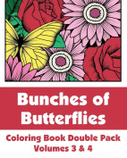 Bunches of Butterflies Coloring Book Double Pack