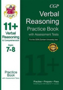 11+ Verbal Reasoning Practice Book with Assessment Tests (Age 7-8) for the CEM Test