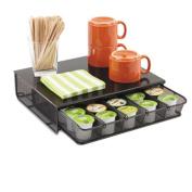 One Drawer Hospitality Organizer, 5-Compartments, 11 1/4 x 12 1/2 x 3 1/4, BK