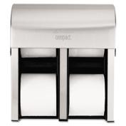 Compact Quad Vert 4Roll Coreless Tissue Dispenser, Stl, 11 3/4 x 6 9/10 x 13 1/4
