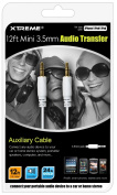 Xtreme 50612 3.5mm Audio Transfer - Data Cable - Retail Packaging - White