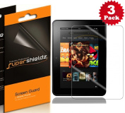 SUPERSHIELDZ- High Definition (HD) Clear Screen Protector For Kindle Fire HD 18cm 18cm Tablet + Lifetime Replacements Warranty [3-PACK] - Retail Packaging