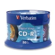 VERBATIM 94587 / 50PK CDR 52X 700MB 80MIN DIGITAL VINYL SPINDLE