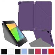 rooCASE Google Nexus 7 FHD Case - Slim Shell Origami Cover (2nd Gen 2013 Model) - PURPLE