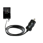 Gomadic Intelligent Compact Car / Auto DC Charger suitable for the Coby Kyros MID7042 MID7048 - 2A / 10W power at half the size. Uses Gomadic TipExchange Technology