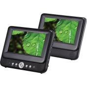 Sylvania 23cm Dual Screen Portable DVD Player with USB/SD Card Reader