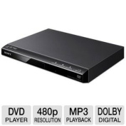 Sony Progressive Scan DVD Player With 480p Progressive Output, Fast/Slow Playback With Sound, CD, MP3 And JPEG Playback, 12-Bit Video DAC With 108Mhz Processing, 96KHz/24Bit Digital Output, Multi-Disc Resume (6 Disc), Dolby Digital And DTS Decoding, Bl ..
