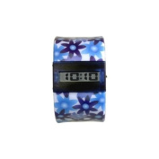 Time Bangles Watch Blue Flowers