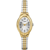 Timex Women's Elevated Classics Two-Tone Oval Dress Watch, Expansion Band