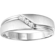 Keepsake Men's Gallant Diamond-Accent 10kt White Gold Wedding Band