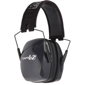 Howard Leight by Honeywell R-01525 Leightning L2F Folding Earmuffs, Black and Grey